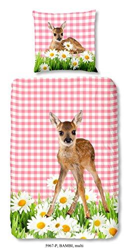 Good Morning Kids,Bambibettwäsche, Kinderbettwäsche Bambi, 135 x 200 cm