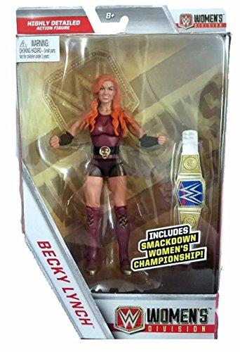Wrestling WWE Mattel Elite Kollektion Becky Lynch Action-Figur mit Smackdown-Frauen-Meisterschaft Gürtel â € | (Action-figur-gürtel Wwe Wrestling)