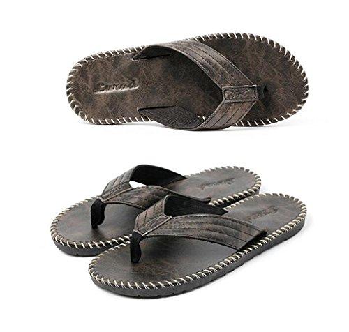 ALUK- Sommer Sandalen - Casual Anti-Rutsch Männer bequeme Verschleiß-resistenten Hausschuhe Strand Schuhe ( Farbe : Schwarz , größe : 41 ) Schwarz