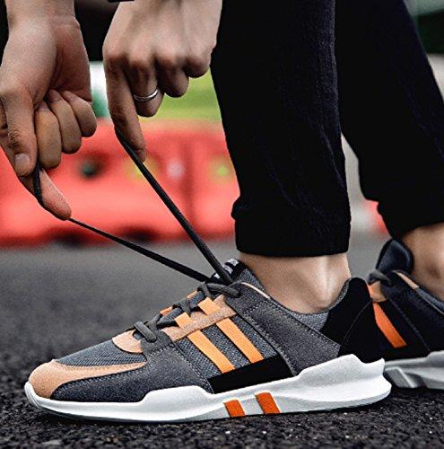 Scarpe da trekking da uomo Trekking basso Tempo libero Viaggi Fitness anti-scivolo Palestra Calzature da esterno Arrampicata Camminare Scarpe da corsa Orange