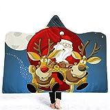 YEARGER Weihnachten Weihnachtsmann Kuscheldecke Wearable Decke Mikrofaser Fleece Sofa Warm Decke Für Erwachsene Kinder