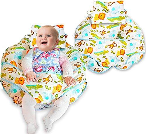 Unique 4en 1Coussin d'allaitement coton de qualité supérieure avec un mini oreiller et harnais bébé