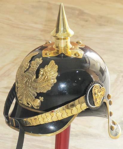 Prediger Kostüm - Deutscher Prediger Pickelhaube Helm Welt WarI & II Messing Spicked Medieval Helm