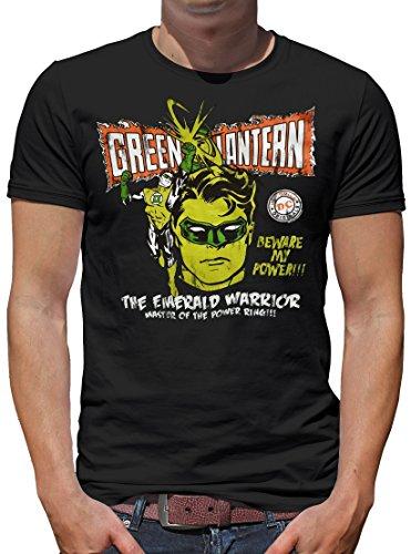 Touchlines Merchandise TLM Green Lantern - Warrior T-Shirt Herren XL Schwarz