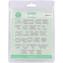 First Edition-Confezione di fustelle, lettere dell'alfabeto, in metallo, colore: