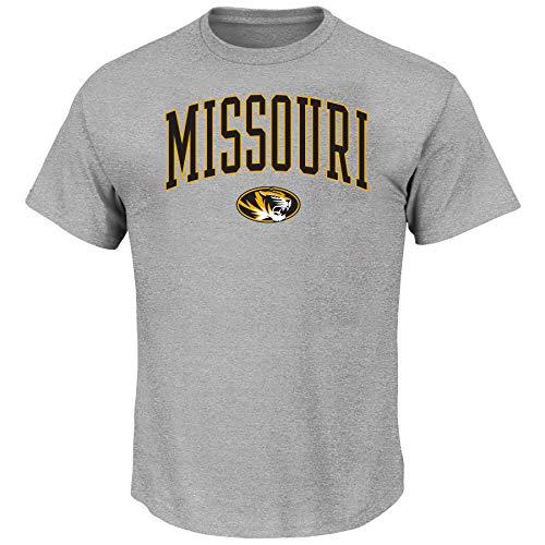 Profile Varsity University of Missouri Men's Big and Tall Short Sleeve Cotton Tee Shirt, Heather Grey XLT -