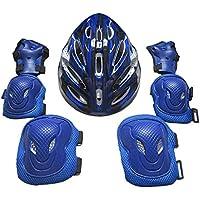 SGerste - Coderas de seguridad para adultos, protectores de rodilla, almohadillas para codo, almohadillas para las manos, casco, deportes, kit de protección de seguridad para deportes al aire libre, ciclismo, patinaje, etc.