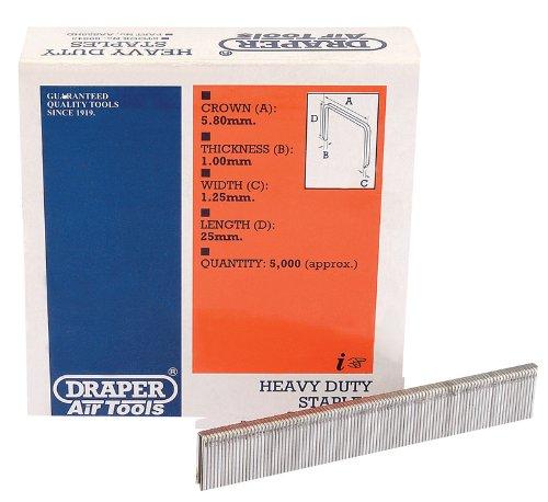 Draper 59843 Agrafes ultra résistantes 25 mm Pack de 5000 (Import Grande Bretagne)