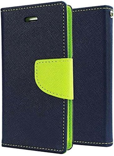 RJR Mercury Goospery Wallet Style Flip Back Case Cover For Xiaomi Redmi 2 2S/Redmi 2 Prime-Blue&Green