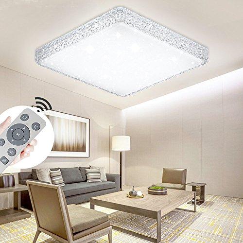YESDA LED Kristall Deckenleuchte Sternenhimmel Starlight Eckig Deckenbeleuchtung Wohnzimmer Deckenlampe Korridor Schlafzimmer Schönes 6000K-6500K Mordern Badleuchte (48W Dimmbar) (Kristall-deckenleuchten)