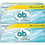 O.b. Pro Comfort Regular Tampons - 20 Pieces (Pack of 2)