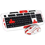 2,4 GHz Wireless Keyboard Gaming Tastatur Maus Combo 19 Tasten Anti-Ghosting Einstellbare DPI-Maus USB-Empfänger-Adapter-Mauspad,C