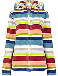 Weird Fish Sade Print Stripe Full Zip Jacket