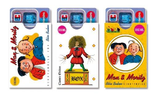 cardbox /// Motive: Max & Moritz / Struwwelpeter /// 3er SET /// Lustige Hüllen für Karten und Ausweise aller Art im Scheckkartenformat