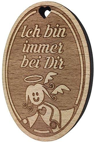 endlosschenken Schöner Kühlschrankmagnet Schutzengel Ich Bin Immer Bei Dir aus Holz Extra Starker Magnet Engel Geschenk vom Original