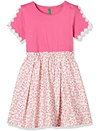 United Colors of Benetton Girl's A-Line Knee-Long Dress