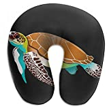 Voxpkrs Sea Turtles And Algae Neck Head Support Travel Rest U Shaped Pillow 3