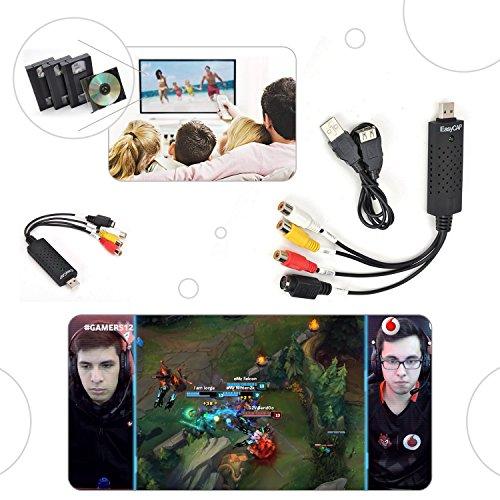 EasyCAP USB 2.0 Video Adaptador Tarjeta Audio Convertidor a Conversor Win 7 8 10