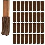 Lenhar, 32 calzini di lana, per imbottire piedi mobili e gambe sedie, calze lavorate a maglia, per proteggere il pavimento, colore marrone