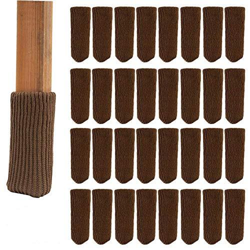 lenhar 32 pièces laine à tricoter Chaussettes Meubles/chaise jambe sol Protection d'écran (Marron)