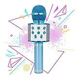 TICE Regalo per Bambina di 6-10 Anni, Bambino di 4-7 Anni Microfono Senza Fili Bluetooth Giocattolo per Feste Microfono per Karaoke per Bambina di 8-11 Anni