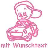 Babyaufkleber mit Name/Wunschtext - Motiv 160 (16 cm) - 20 Farben und 11 Schriftarten wählbar