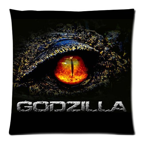 Generic GODZILLA Theme Custom Zippered DIY Cushion Cover Pillow Cases Standard Size 18 by 18 Inches (Twin sides)