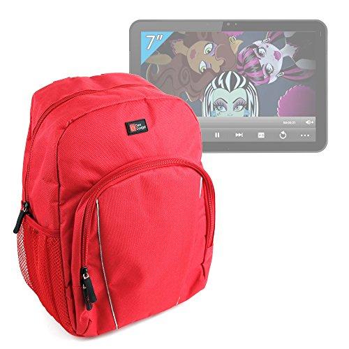 Imagen de duragadget  roja para ingo monster high | frozen | hello kitty + funda impermeable  para niños  alta calidad
