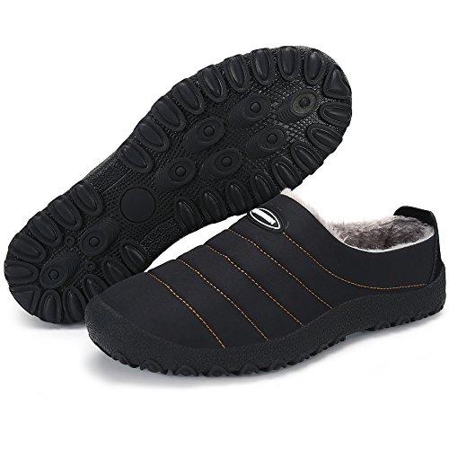 Zapatos Algodón De Invierno De Hombre Negros Zapatillas Al Libre Zapatillas Aire De Casa Forro Saguaro® En Suave Zapatillas Zapatillas Felpa Mujer E5SxAT5q