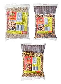 Naturals Bite Yellow Chana, Mahabaleshwar Chana and Salted Peanuts, 860 grams (Combo of 3)