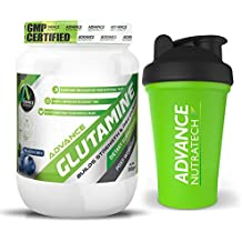Advance Nutratech Glutamine supplement powder 300g (60 Servings) With free Shaker (BLUEBERRY)