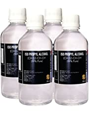 ISO Propyl Alcohol 99% Pure [(CH3)2-CH-OH] CAS: 67-63-0 (250ML) 4 Pc Combo