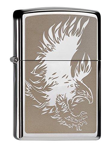 Zippo 60000047 Eagle Feuerzeug, Messing