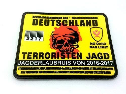 Alemania Terrorista Alemán Permiso Caza Airsoft Velcro