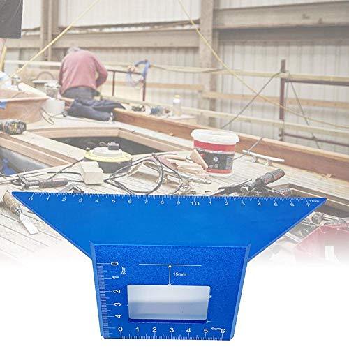 Krystallove Multifunktions-Aluminiumlegierungs-Stärke-Führer-Machthaber, Holzbearbeitungs-quadratisches T-Slasher 45 Grad-Winkel-90 Grad-Machthaber Blue Square Platte