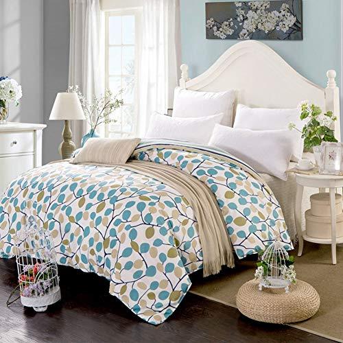 JWANS Bettbezug Mit Reißverschluss 1 Stück Baumwolle Bettdecke Volle Königin King Size Pastoralen Stil Pflanzenmuster Bettwäsche Set