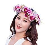 YAZILIND guirnalda floral tocado nupcial diadema flor pulsera guirnalda para bodas festivales...