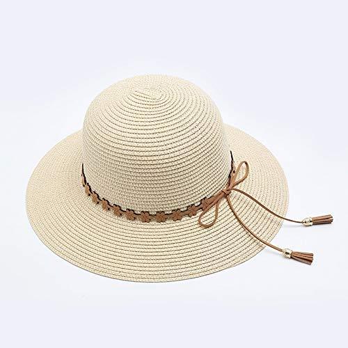 WENYAO Strohhut Lady Summer Sonnenhut, Sonnenschutz Sonnenhut Beach Beach Hat Hut, Cover Face UV-Schutz (Farbe: 3) -