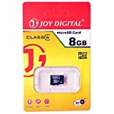 Joy 8GB Micro SDHC Class 6 Micro SD Card, Ideal Upgrade for portable electronic devices, such as digital cameras, mobile phones, laptop, computers, tablets, PDAs, MP3 players, video game consoles, synthesizers, and electronic keyboards -JOY-MMC-8GB-BLACK