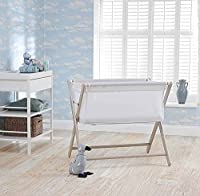 Little Chick Breathable Crib with a Luxury Breathable Microfibre Hypoallergenic Mattress - Warm Grey