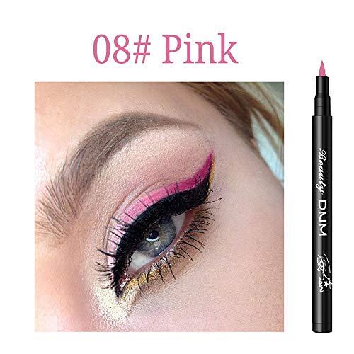 Cooljun Eyeliner liquid paillette Waterproof Maquillage 12 Couleur,Brillant à paupières Smoky Eyeliner Liquide à Paillette Crayon Stylo Fard à Paupières (H)