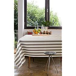 Mantel anti manchas Adriatico 50%algodón 50%poliéster, resinado y con Teflón de Dupont® - 150X250 - BEIGE