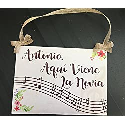 Cartel Personalizado Aquí Viene la Novia - Musical