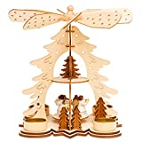 SIKORA P27 Teelicht Holz Weihnachtspyramide