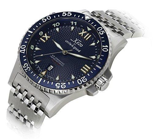 Xezo Men's Air Commando Japanese-Automatic Diver's Watch D45-BM by Xezo