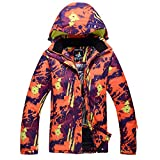 LiShihuan Damen Mountain Ski Jacket Wasserdichte, Winddichte und warme Jacke (Color : Orange, Size : M)