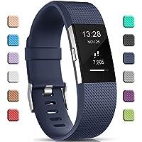 Gogoings Bracelet pour Fitbit Charge 2 - Bracelet Silicone Fitbit Bande de Rechange Réglable Souple Sport Compatible avec Fitbit Charge2 pour Femme & Homme (sans Montre)