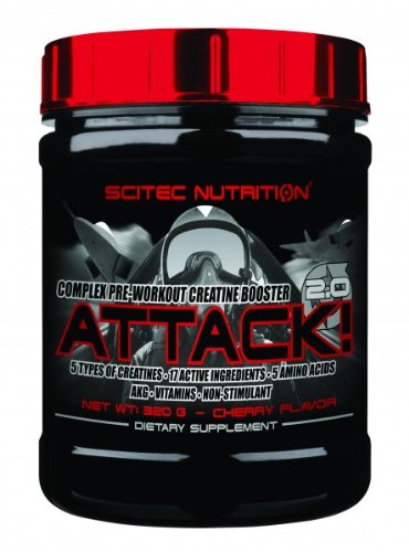 Scitec Nutrition Attack 2.0 Kirsche 320 pre-workout Creatin-Booster top-energy24 Spezialangebotg