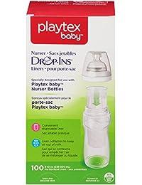 Playtex - Drop-Ins Pre-Sterilized Doux Bouteille Chemises, 8 À 10 Oz. 100 Ea