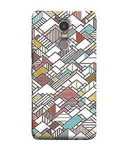 PrintVisa Designer Back Case Cover for Lenovo K6 Note (White Boxes Triangles Square Buildings)